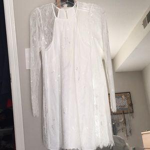 White lace BCBGeneration Dress